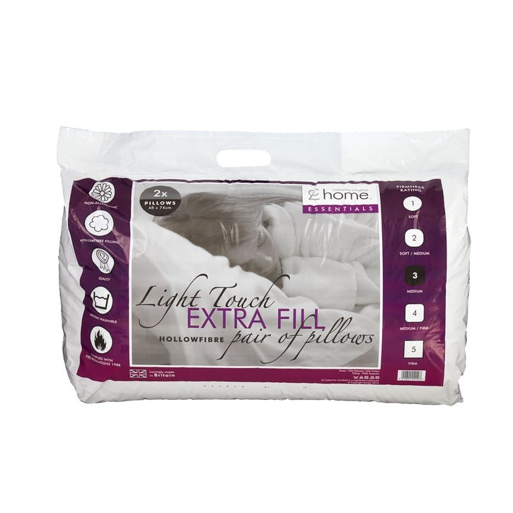 Hollowfibre Extra Fill Set of 2 Pillows