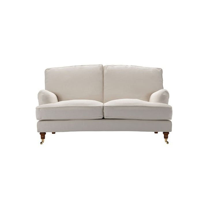 The Bluebell, Two Seat, Taupe Brushed Linen Cotton