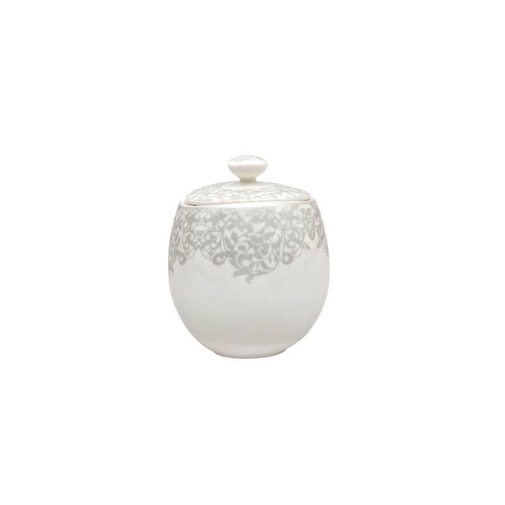 Filigree Silver Covered Sugar Pot, 300ml