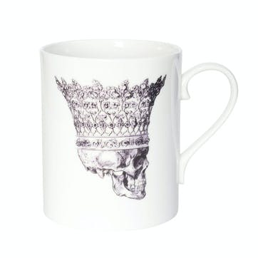 Rock and Roll Skull in Crown Mug