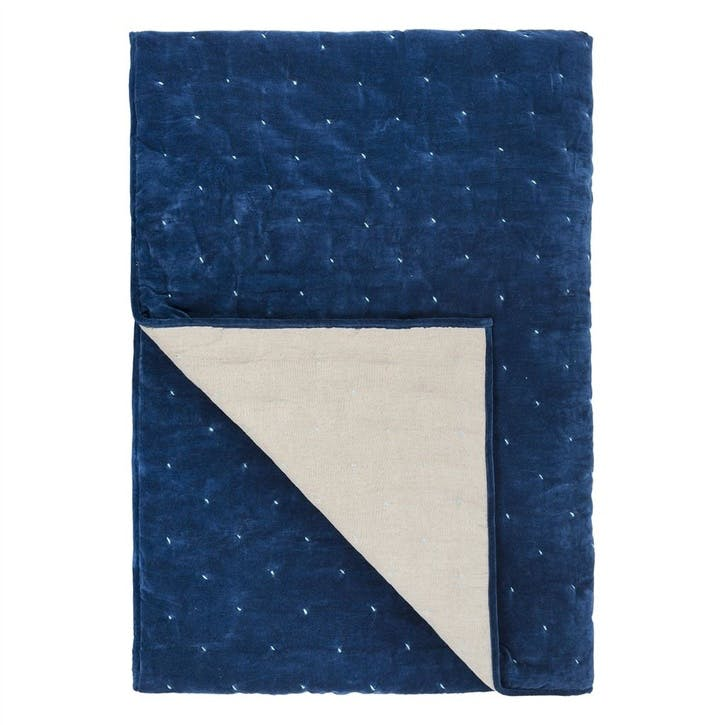 Sevanti Indigo Quilted Throw