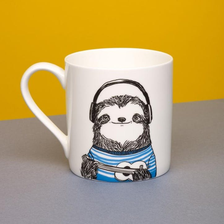 Ukulele Sloth Animal Mug