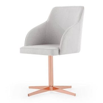 Keira Office Chair, Cloud Grey and Copper
