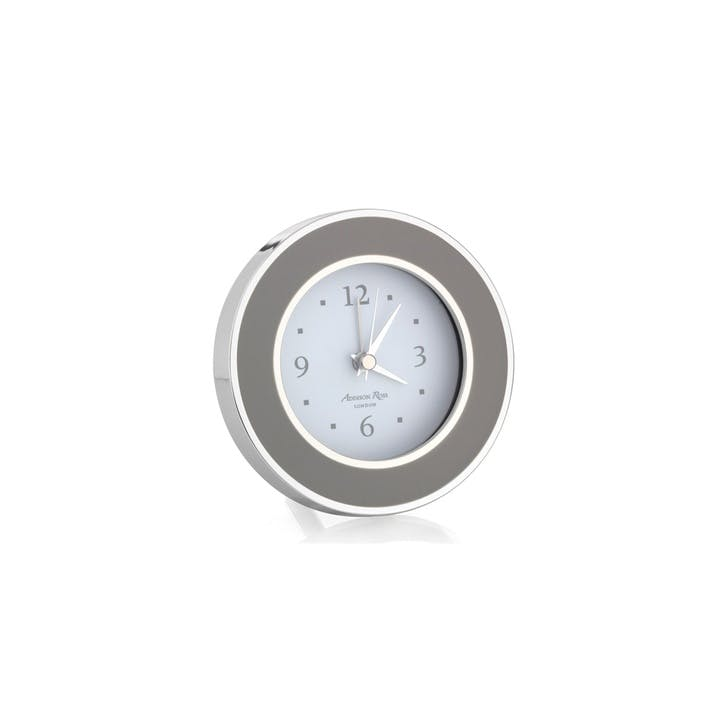 Alarm Clock; Chiffon & Silver