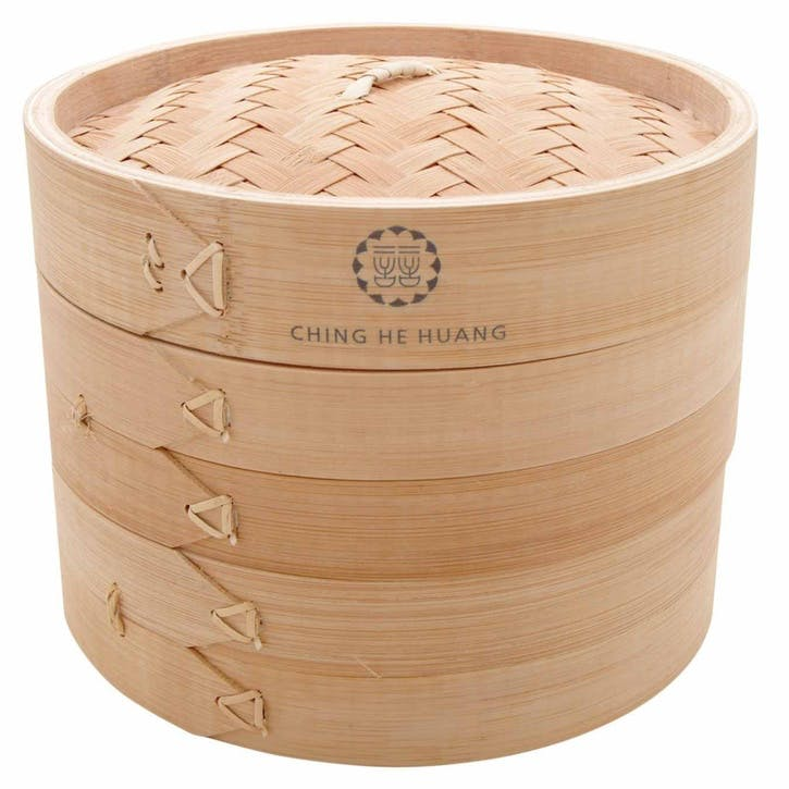 Professional Bamboo 2 Tier Steamer