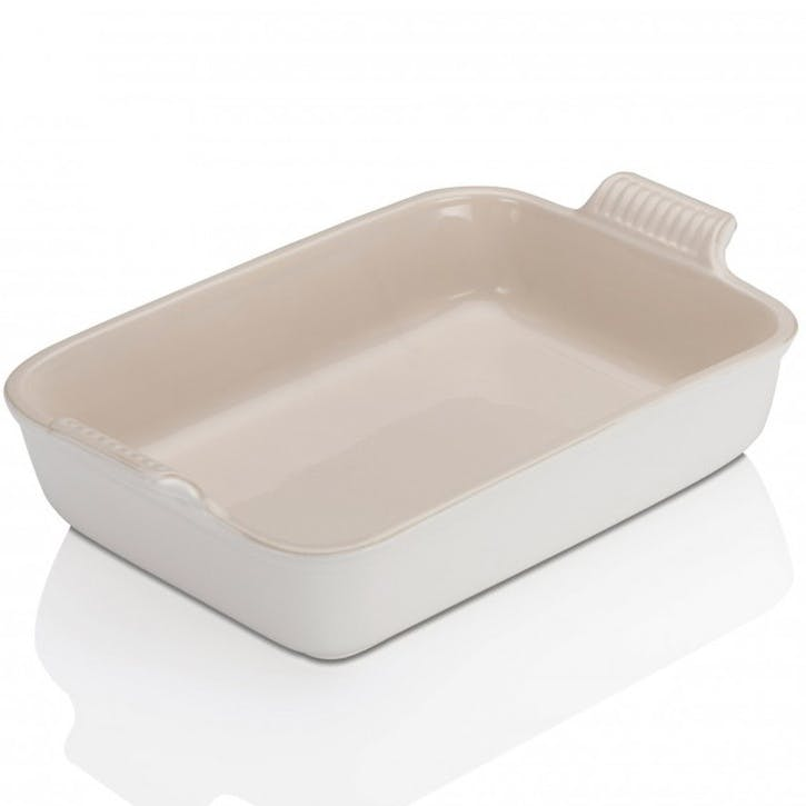 Stoneware Rectangular Dish - 26cm; Cotton