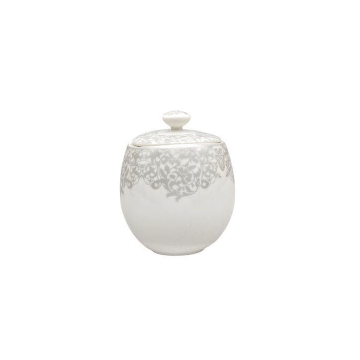 Filigree Silver Covered Sugar Pot, 300ml