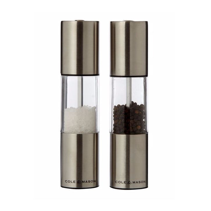 Precision Oslo Acrylic and Stainless Steel Salt & Pepper Mill Gift Set