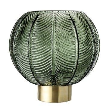 Vintage Embossed Glass Vase