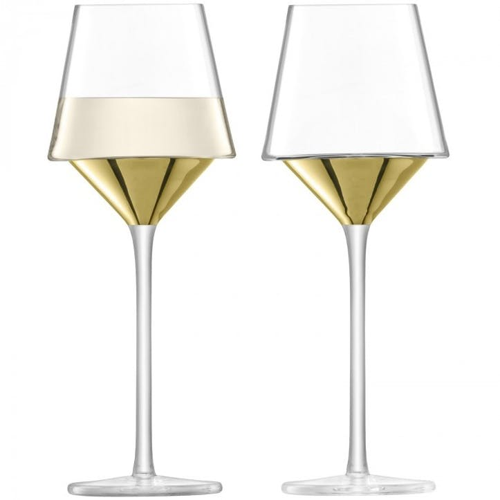 Space Wine Glass Set of 2; Gold