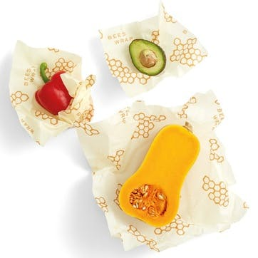Bee's Wrap Print Food Wraps, Pack Of 3, Small/Med/Large