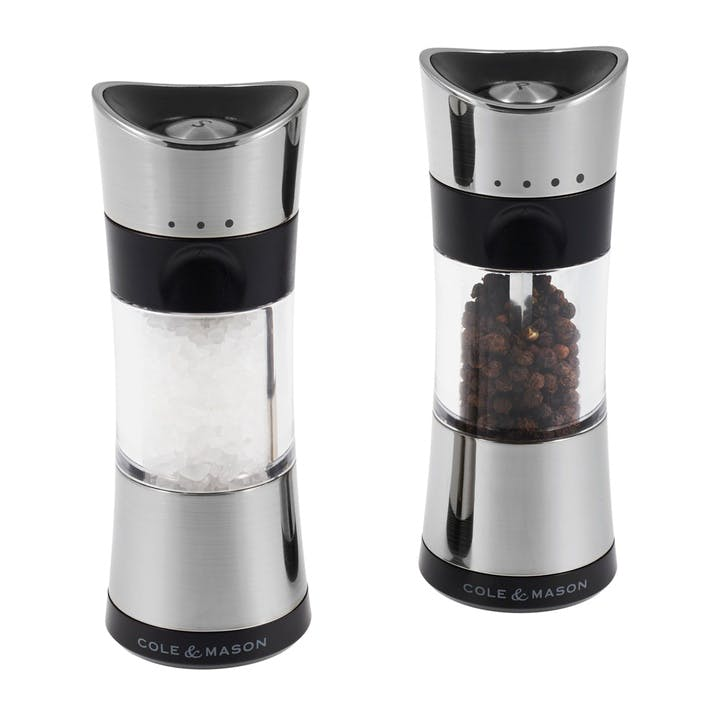 Horsham Inverta Salt & Pepper Mill Gift Set; Acrylic and Chrome