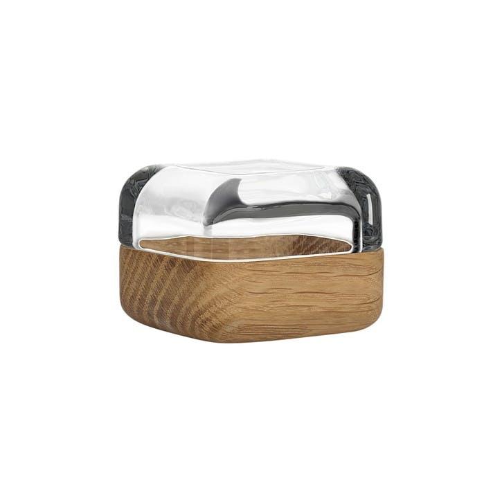 Vitriini Ring Box, Oak and Glass