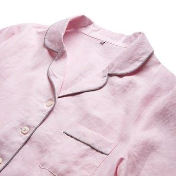 Blush Linen Pyjama Set, Small