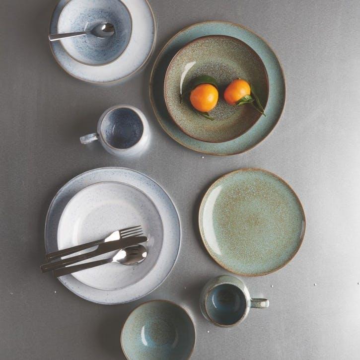 Olmo Dinner Plate, Set of 4, Light Blue