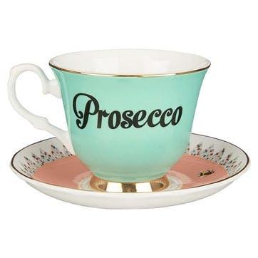 Pastel Prosecco Teacup & Saucer