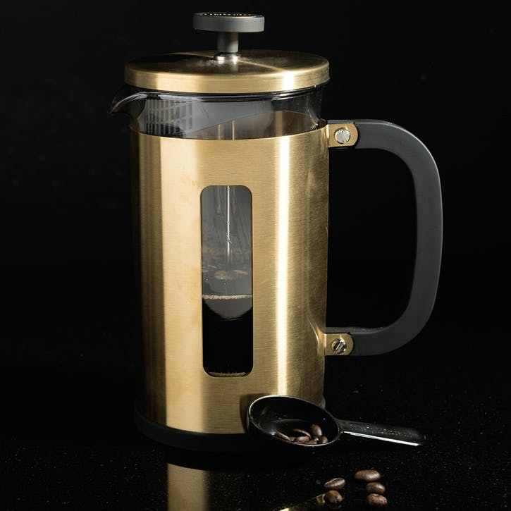 Edited Pisa Cafetiere, Brushed Gold, 8 Cup