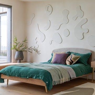 Crawford King Bed Light Oak