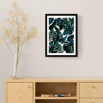 83 Oranges, Leaves Framed Art Print