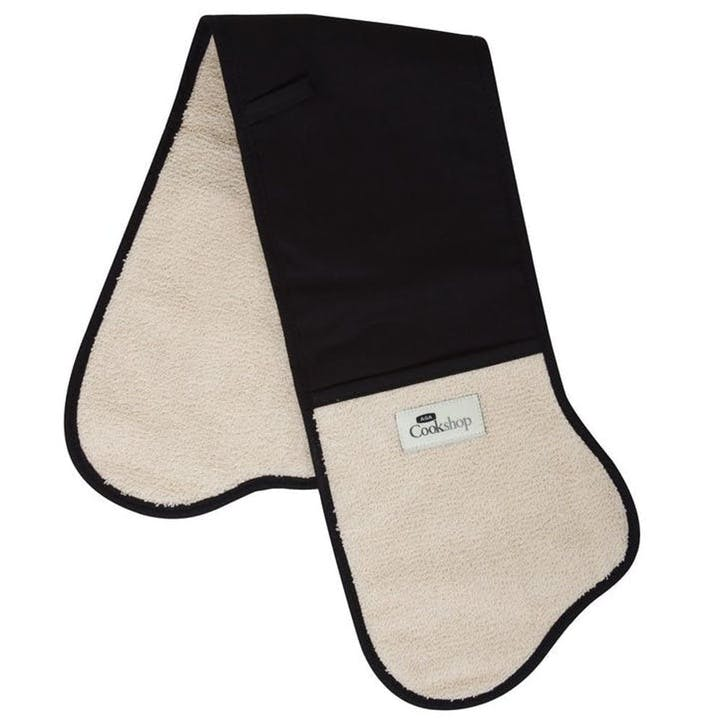 Black Traditional Double Oven Glove