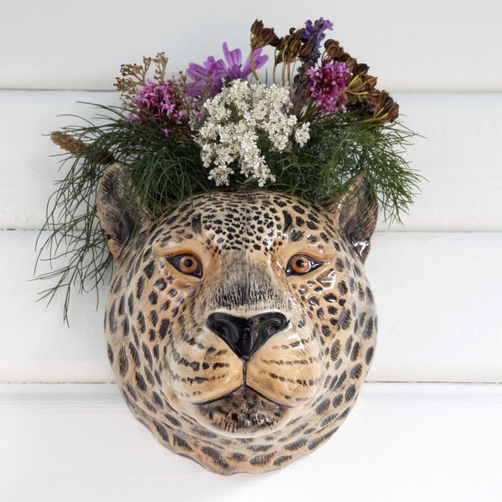 Leopard Wall Vase, H18cm
