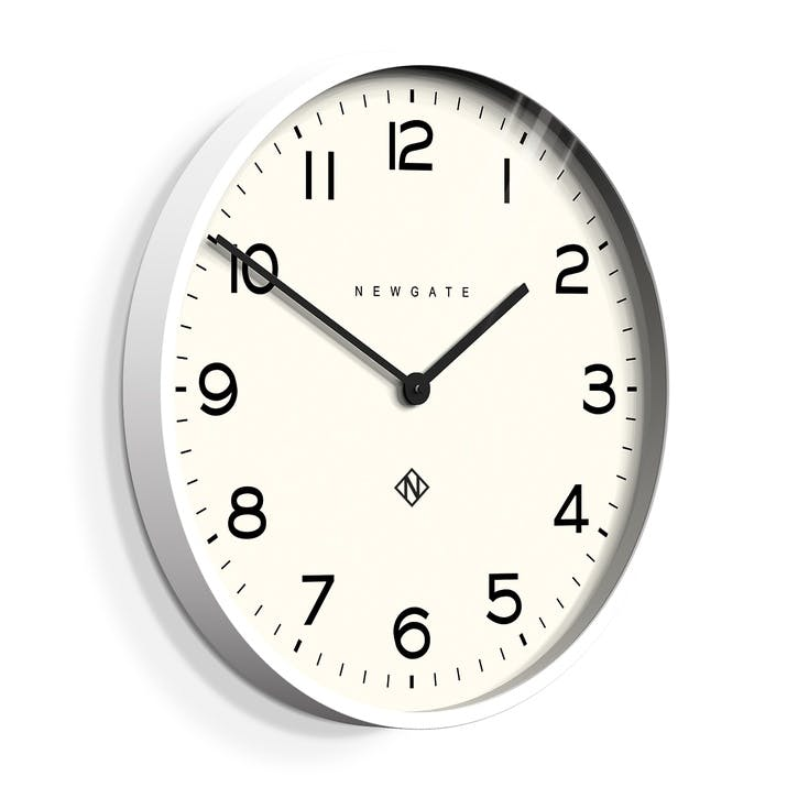 The Echo Clock, 53cm; Pebble White