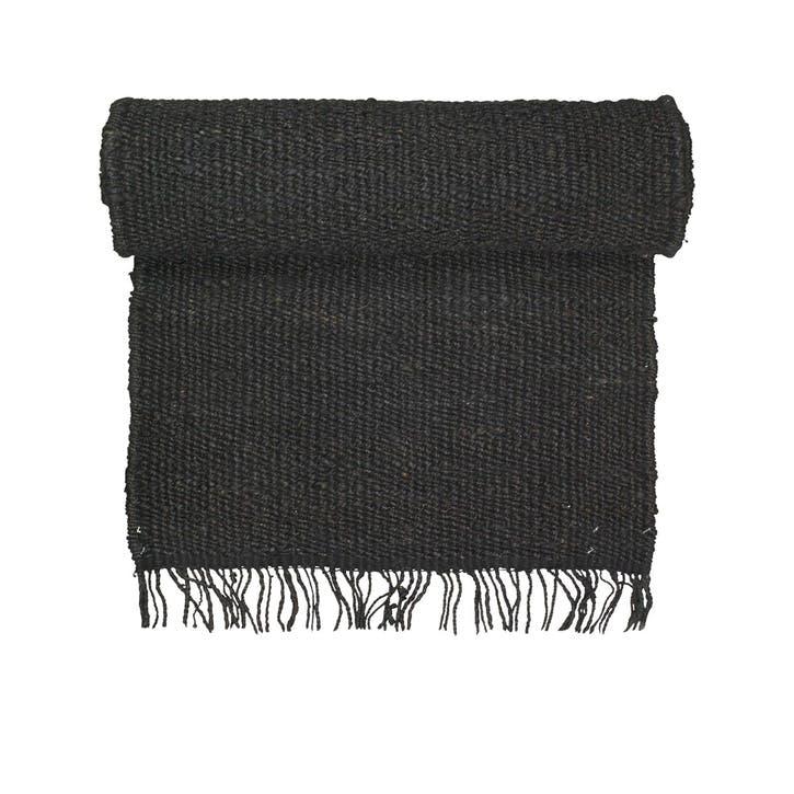 Hemp Rug, 80 x 250cm, Black