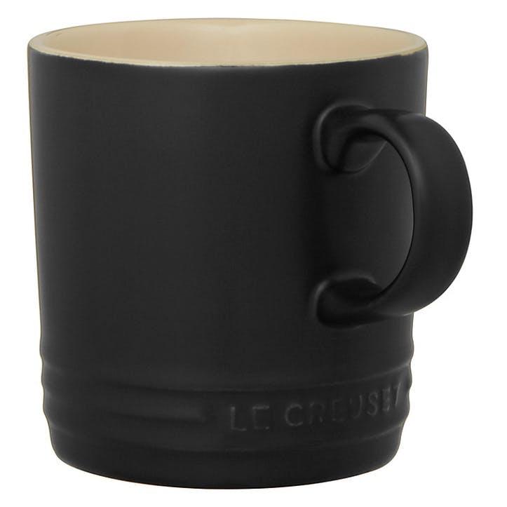 Stoneware Mug - 350ml; Satin Black