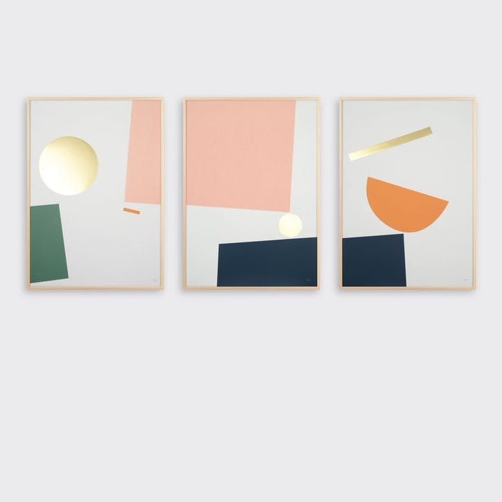 Balance, Set of 3 Prints, H59 x L42cm
