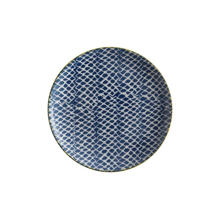 Laguna Side Plate, Woven Blue