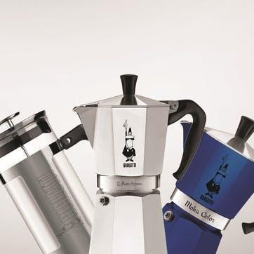 Moka Express Espresso Maker, 12 Cup, Silver