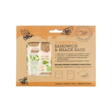 Beeswax Sandwich Bag, Set of 2