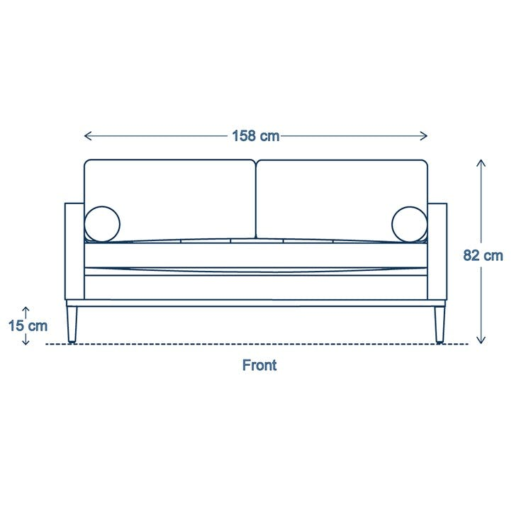 2 Seater Sofa, Model 02, Seaglass