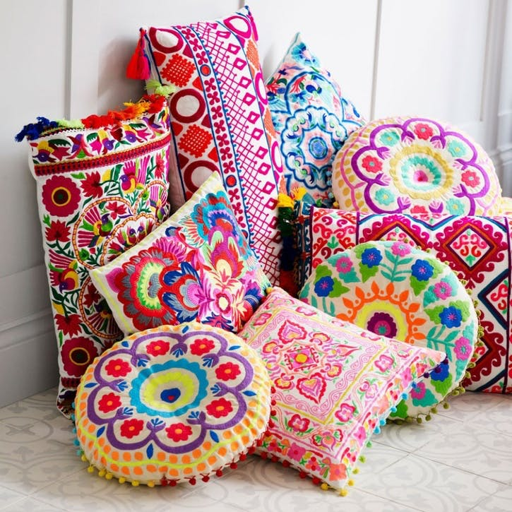 Picado Embroidered Cushion