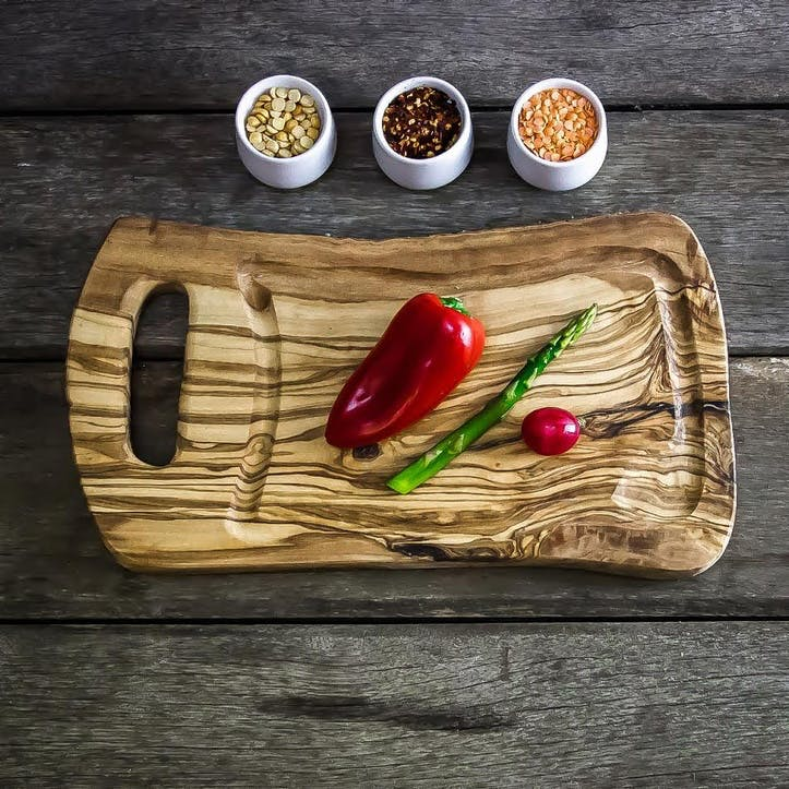 Wooden Dual-Sided Steak Board with Jus Groove - 35cm