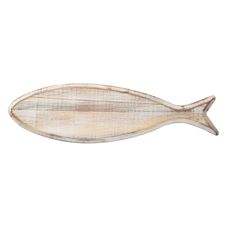 Ocean Fish Board - 50cm; Rustic White