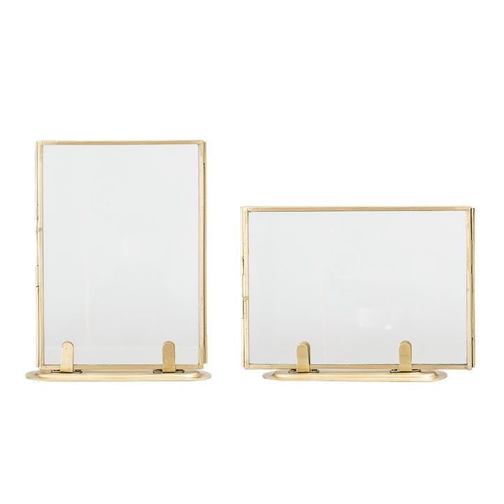 Brass Picture Frames, Set of 2