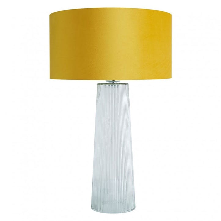 Whistable Table Lamp With Yellow Velvet Shade
