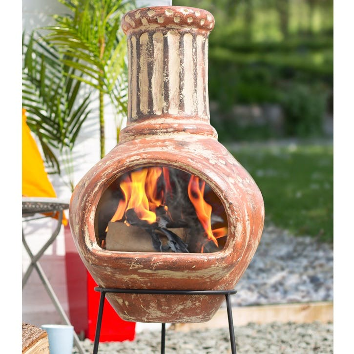 Calido Large Clay Chimenea