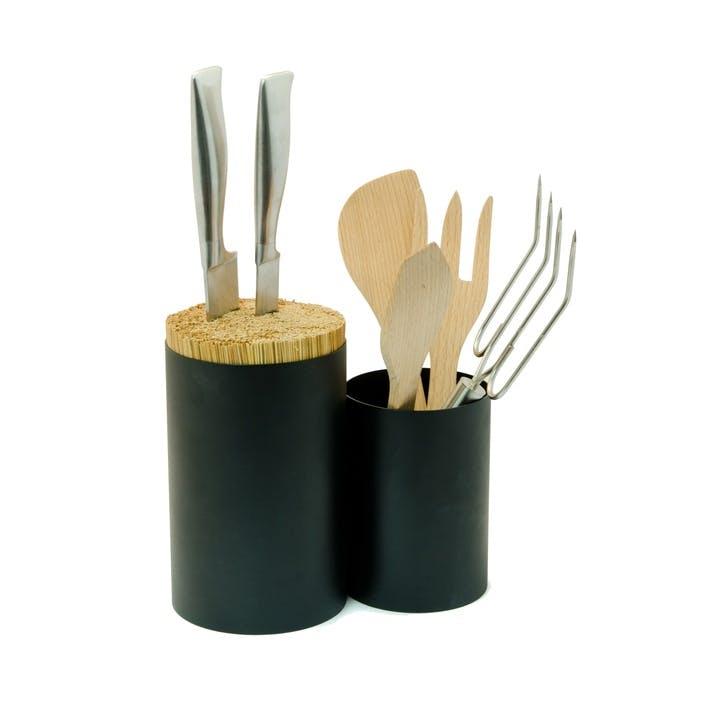 Knife & Spoon Utensils Storage, Black