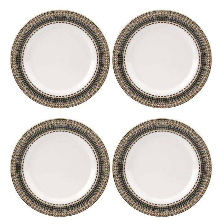 "Atrium Dinner Plates, Set of 4, 11"""