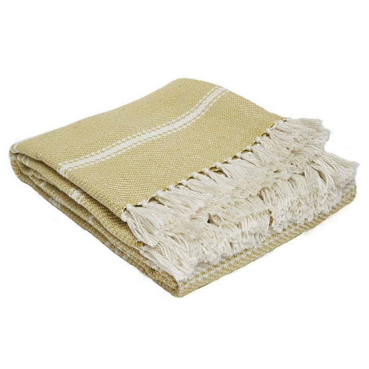 Oxford Stripe Blanket, 2.3 x 1.3m, Gooseberry