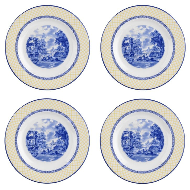Giallo Salad Plates, Set of 4
