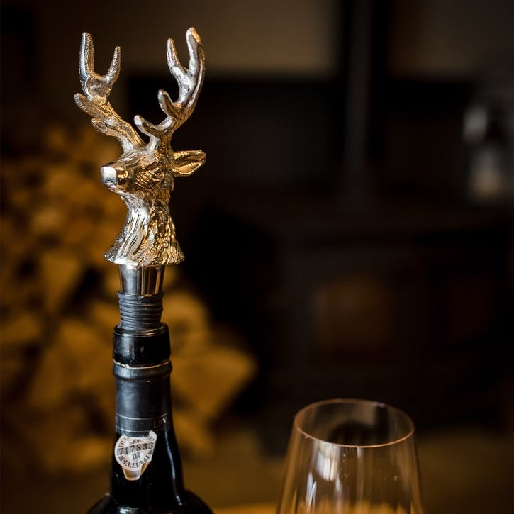Stag Head Wine Bottle Stopper