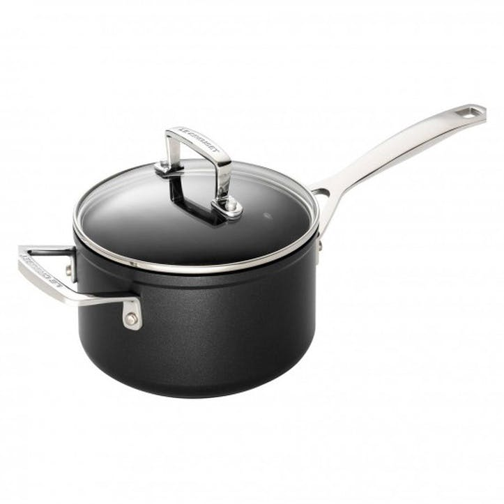 Toughened Non-Stick Saucepan With Lid - 16cm