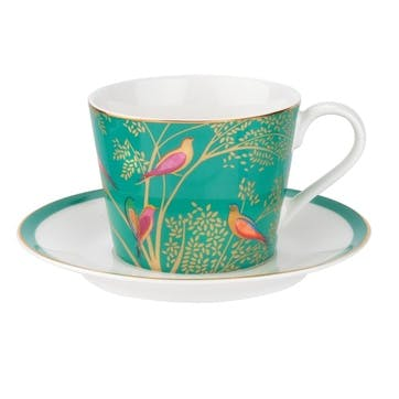 Chelsea Collection Tea Cup & Saucer; Green