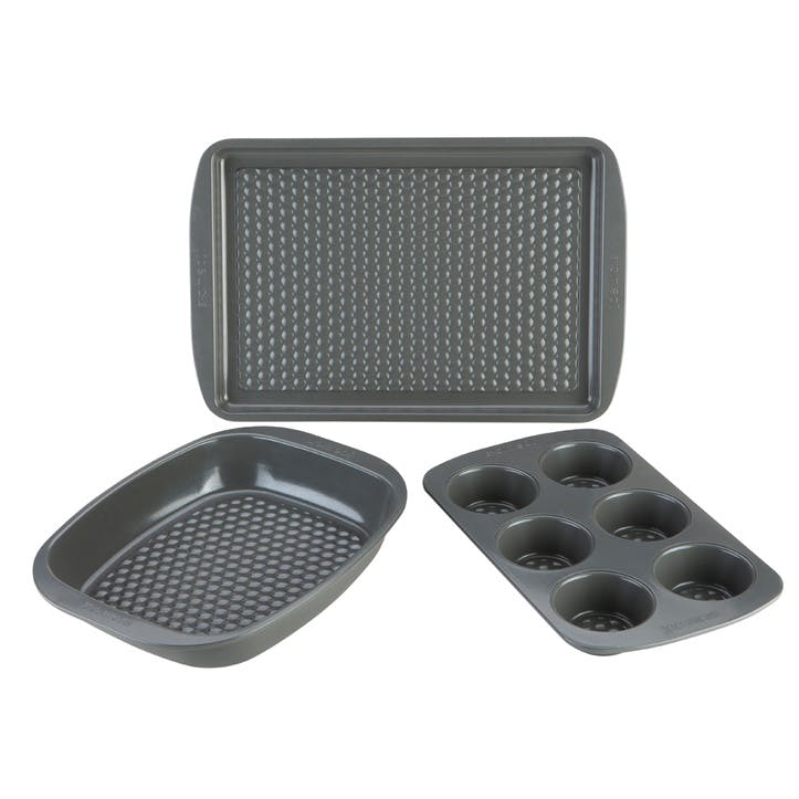 'Let's Get Started' Aerolift Ovenware Set, 3 Piece