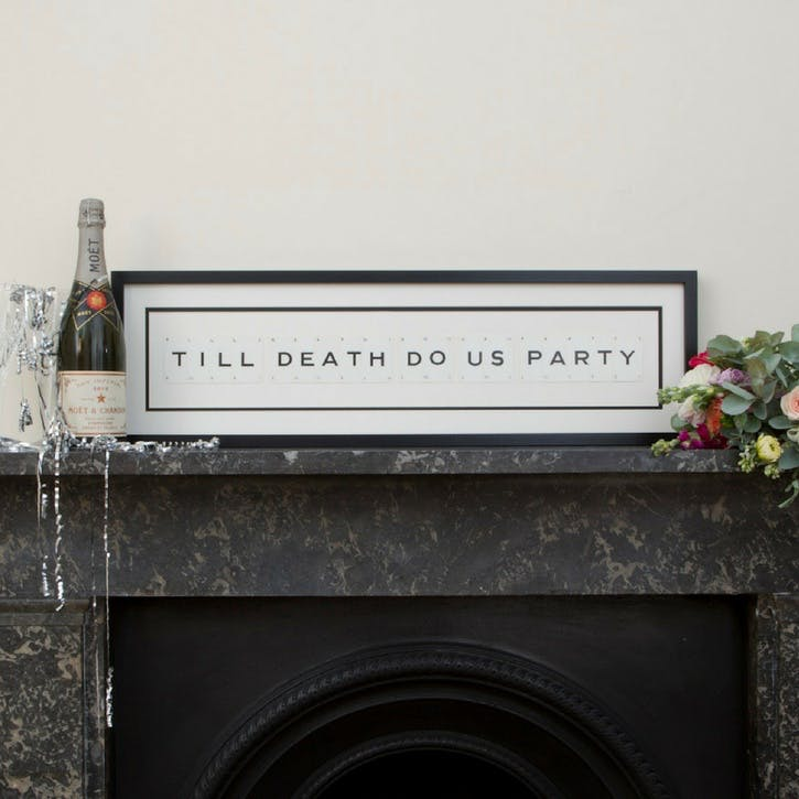 'Till Death Do Us Party' Word Frame