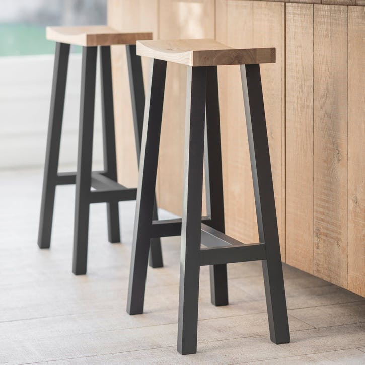 Clockhouse Stool, Tall, Carbon Legs