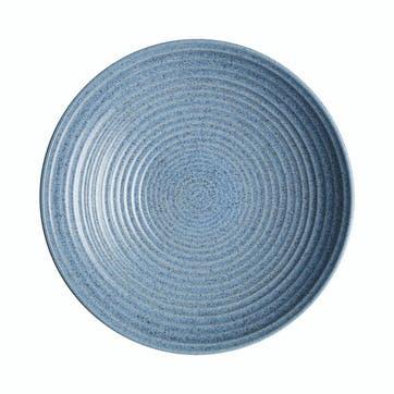 Studio Blue Flint Large Ridged Bowl